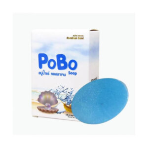 Pobo Mineral Collagen Soap Gentle Cleansing Brightening Reduce Dark Spot Freckles Aura Clear Skin (China)