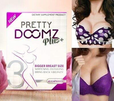Pretty Doomz Plus+ Breast Enhancing, Whitening (45 Capsules)